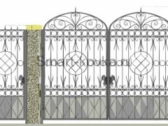 Кованые ворота 33