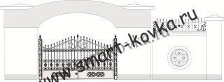 Кованые ворота № 1 Цена за метр квадратный