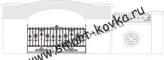 Кованые ворота № 10 Цена за метр квадратный