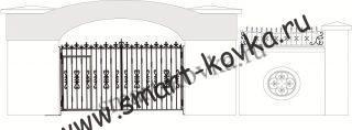 Кованые ворота № 11 Цена за метр квадратный