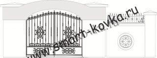 Кованые ворота № 12 Цена за метр квадратный