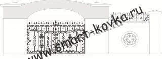 Кованые ворота № 13 Цена за метр квадратный