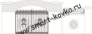 Кованые ворота № 14 Цена за метр квадратный