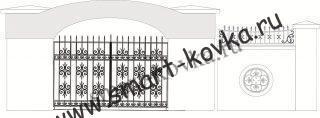 Кованые ворота № 15 Цена за метр квадратный