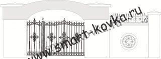 Кованые ворота № 16 Цена за метр квадратный