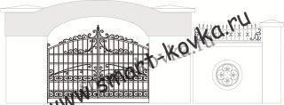 Кованые ворота № 17 Цена за метр квадратный