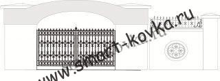 Кованые ворота № 18 Цена за метр квадратный