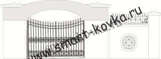Кованые ворота № 19 Цена за метр квадратный