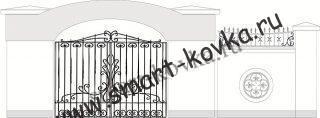 Кованые ворота № 2 Цена за метр квадратный