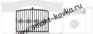 Кованые ворота № 20 Цена за метр квадратный