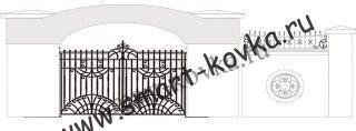 Кованые ворота № 21 Цена за метр квадратный