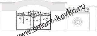 Кованые ворота № 22 Цена за метр квадратный