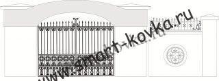 Кованые ворота № 23 Цена за метр квадратный