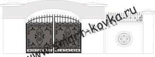 Кованые ворота № 24 Цена за метр квадратный