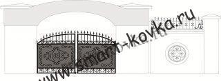 Кованые ворота № 25 Цена за метр квадратный
