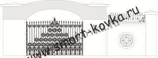 Кованые ворота № 26 Цена за метр квадратный