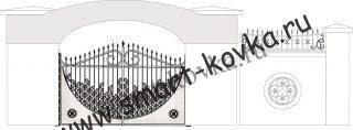 Кованые ворота № 27 Цена за метр квадратный