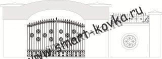 Кованые ворота № 28 Цена за метр квадратный