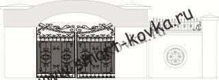 Кованые ворота № 29 Цена за метр квадратный
