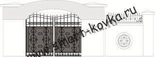 Кованые ворота № 30 Цена за метр квадратный