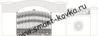 Кованые ворота № 31 Цена за метр квадратный