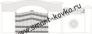 Кованые ворота № 32 Цена за метр квадратный
