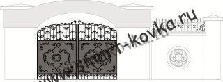 Кованые ворота № 33 Цена за метр квадратный