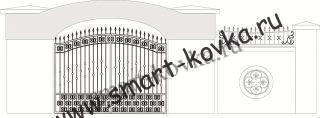 Кованые ворота № 35 Цена за метр квадратный