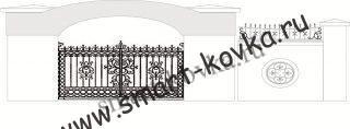 Кованые ворота № 36 Цена за метр квадратный
