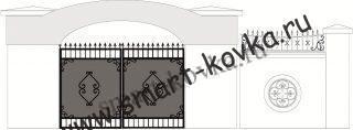 Кованые ворота № 37 Цена за метр квадратный