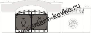 Кованые ворота № 38 Цена за метр квадратный