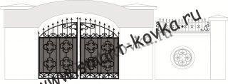 Кованые ворота № 39 Цена за метр квадратный