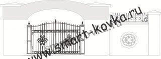 Кованые ворота № 4 Цена за метр квадратный