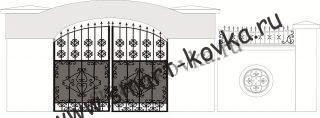 Кованые ворота № 40 Цена за метр квадратный
