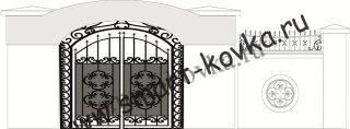 Кованые ворота № 41 Цена за метр квадратный