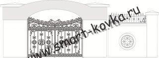 Кованые ворота № 45 Цена за метр квадратный