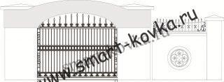 Кованые ворота № 46 Цена за метр квадратный