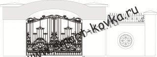 Кованые ворота № 47 Цена за метр квадратный