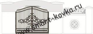 Кованые ворота № 49 Цена за метр квадратный