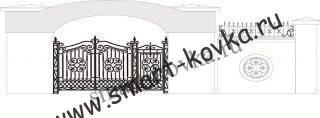 Кованые ворота № 5 Цена за метр квадратный