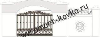Кованые ворота № 50 Цена за метр квадратный