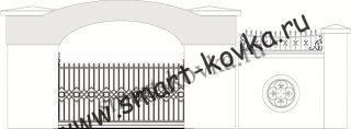 Кованые ворота № 51 Цена за метр квадратный