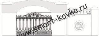 Кованые ворота № 53 Цена за метр квадратный