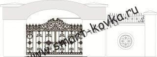 Кованые ворота № 54 Цена за метр квадратный
