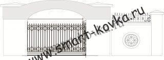 Кованые ворота № 55 Цена за метр квадратный