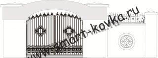 Кованые ворота № 56 Цена за метр квадратный