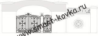 Кованые ворота № 7 Цена за метр квадратный