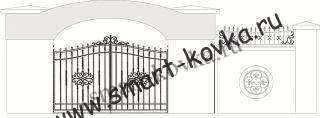 Кованые ворота № 8 Цена за метр квадратный