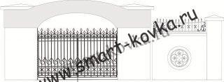 Кованые ворота № 9 Цена за метр квадратный