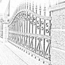 кованый забор в Балашихе